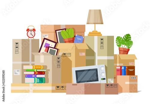 Moving boxes Fototapet