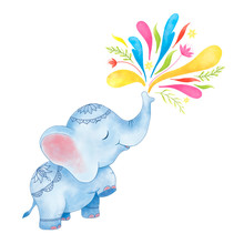 Happy Holi Festival Clipart