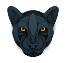 Abstract Panther Head Isolated...