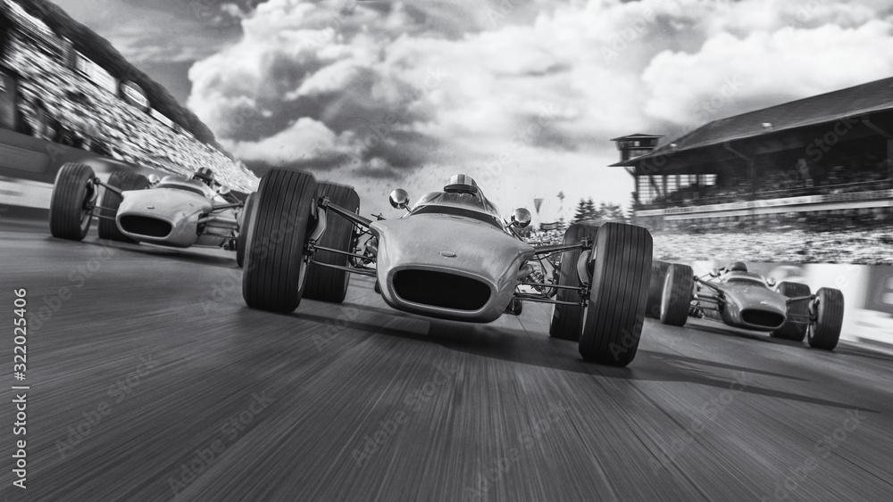 f1 racing 1966 3d render