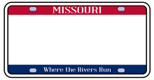 Blank Missouri License Plate