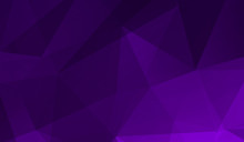 Abstract Purple Black Gradient Triangle Background. 3D Triangles. Modern Wallpaper.