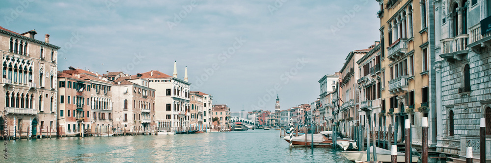 Fototapeta Panoramic view of the Grand Canal in Venice, Italy