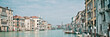 Panoramic view of the Grand Canal in Venice, Italy