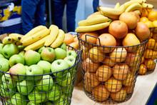 Fruit Basket Apples Oranges Bananas