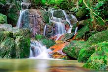 Amazing Waterfall In Jungle, Koh Samui, Thailand