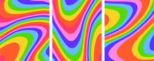 Retro Groovy Rainbow Backgroun...