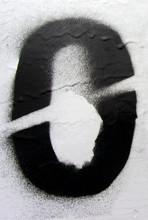 Number 0 Black Sprayed Digit O...