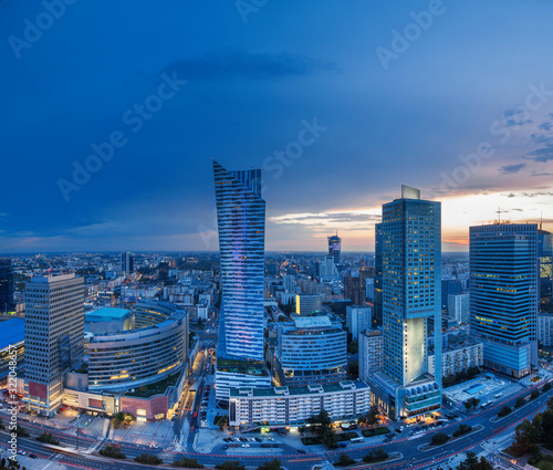 Fototapety, obrazy: view of the palace of culture in the Polish capital Warsaw