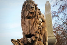 Baroque Statue Of Lion On The ...