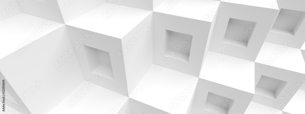 Cube Panoramic Background. Abstract Graphic Design