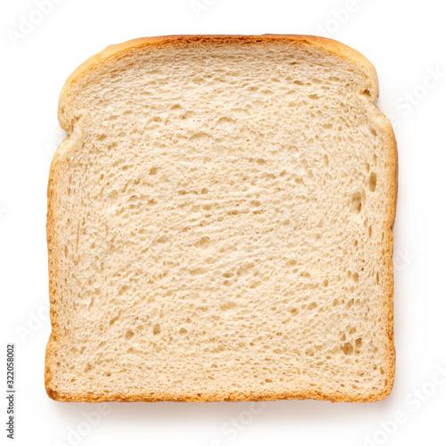 Slice of white bread. Fotobehang