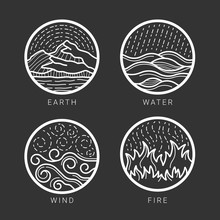 Collection Of 4 Element Earth,...