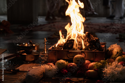 Indian Hindu Traditional Pooja Fototapete
