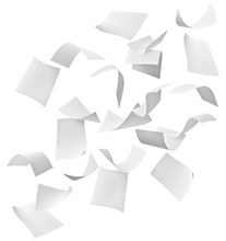 Paper Document Flying Paperwor...