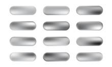 Big Set Of Silver Foil Texture...
