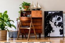 Stylish And Vintage Interior D...