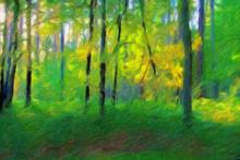 Impressionnisme. La Forêt En Automne