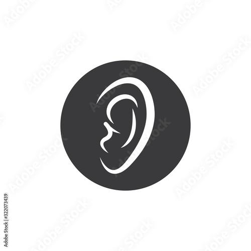 ear icon vector illustration design Wallpaper Mural