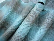 Blue Genuine Python Skin, Snak...