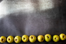 Yellow Apples Are Located Belo...