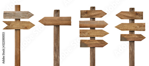 Fotomural wood wooden sign arrow board plank signpost