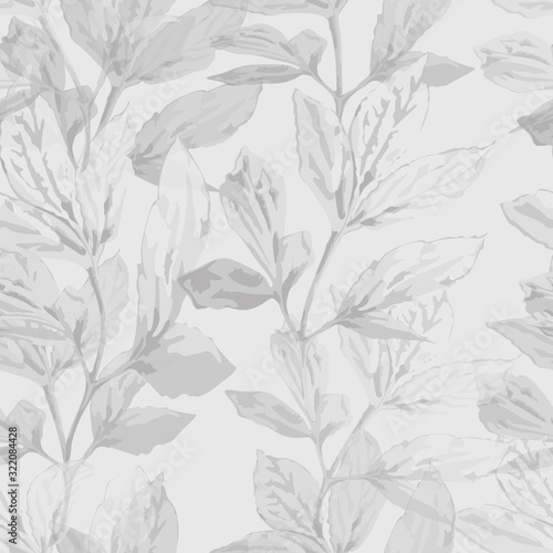 Photo Softness nature monochrome vector seamless pattern