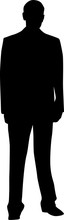 Vector Silhouette Of A Man In A Suit That Stands