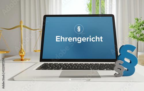 Obraz na plátně Ehrengericht – Recht, Gesetz, Internet