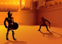 Rome Gladiators In The Arena