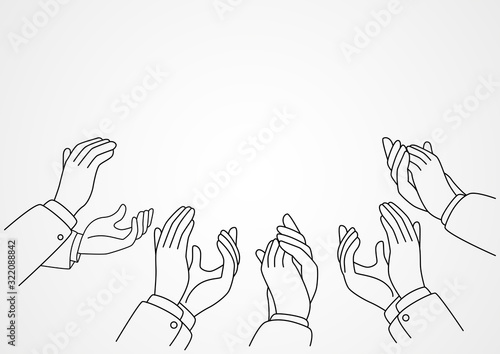 Hands clapping Canvas Print