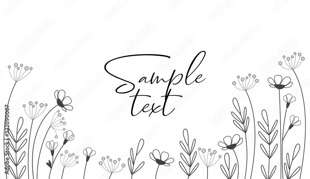 Fototapeta Vector illustration of flowers. The decoration of wildflowers, decorative flowers, meadow flowers