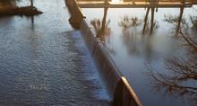 Spillway At Sunset In Kerrvill...