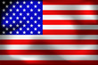 Happy America day background. Flag of USA with folds. Bright background with flag of USA. Illustration.