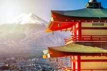 Sunrise Of Fuji Mountain And R...