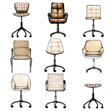 Set Of Office Chairs In The Lo...