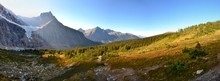 Panorama Of Mount Edith Cavell...