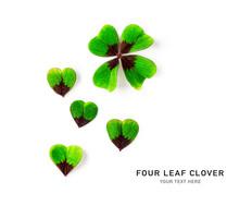 Green Four Leaf Clover Creativ...