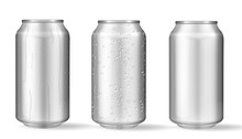 Realistic Aluminum Cans With W...