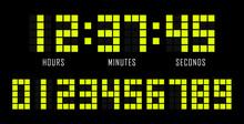 Countdown Website Vector Flat Template Digital Clock Timer Background. Countdown Timer.