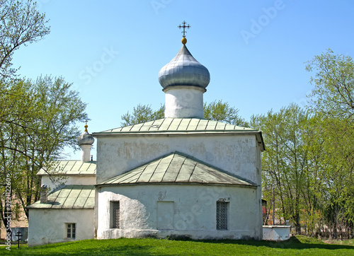 Photo The Church of the Unruly Image on the side of the apse. Pskov