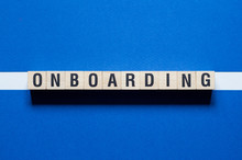 Onboarding Word Concept On Cubes