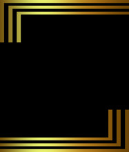 Gold Border On Black Background