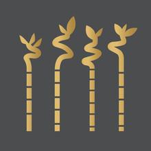Golden Lucky Bamboo Sticks- Ve...