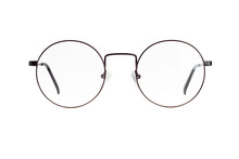 The Front View Of Eyeglasses I...