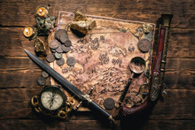 Pirate Treasure Map And Other ...