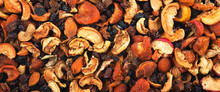 Dried Fruits Background And Te...