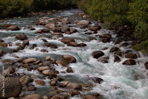 Rushing mountain stream Wallpaper Mural