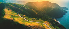Aerial View Of Marin Headlands...