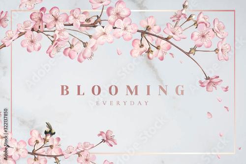 Cherry blossom frame Canvas Print